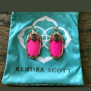 Kendra Scott Deva Drusy Magenta Earrings